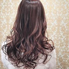 外国人風カラー ロング フェミニン グラデーションカラー ヘアスタイルや髪型の写真・画像