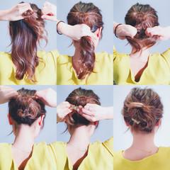 エレガント くるりんぱ ヘアアレンジ 簡単ヘアアレンジ ヘアスタイルや髪型の写真・画像