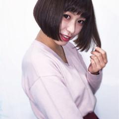 大人女子 ボブ ナチュラル ショートボブ ヘアスタイルや髪型の写真・画像