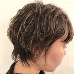 ハイライト ショート 外国人風カラー コントラストハイライト ヘアスタイルや髪型の写真・画像