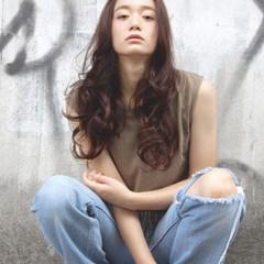 ロング ナチュラル パーマ 外国人風 ヘアスタイルや髪型の写真・画像
