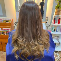 爽やか グラデーション 艶髪 エレガント ヘアスタイルや髪型の写真・画像