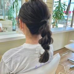 ミディアム ヘアアレンジ ナチュラル 簡単ヘアアレンジ ヘアスタイルや髪型の写真・画像