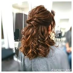 オフィス ナチュラル ヘアアレンジ ミディアム ヘアスタイルや髪型の写真・画像