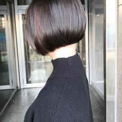 ボブ 切りっぱなしボブ 前下がりショート 前下がりヘア ヘアスタイルや髪型の写真・画像