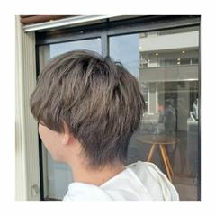 ショート アッシュグレージュ メンズスタイル メンズマッシュ ヘアスタイルや髪型の写真・画像