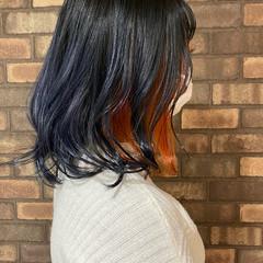 グラデーションカラー ブルージュ ブリーチ必須 インナーカラー ヘアスタイルや髪型の写真・画像
