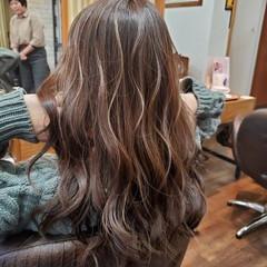 ハイライト ロング グラデーションカラー フェミニン ヘアスタイルや髪型の写真・画像