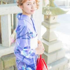 モテ髪 ヘアアレンジ お祭り コンサバ ヘアスタイルや髪型の写真・画像