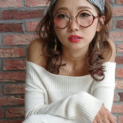 簡単ヘアアレンジ 大人かわいい セミロング ショート ヘアスタイルや髪型の写真・画像