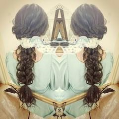 ヘアアレンジ 編み込み フェミニン 大人かわいい ヘアスタイルや髪型の写真・画像