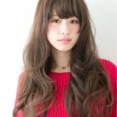 ロング 大人かわいい ゆるふわ コンサバ ヘアスタイルや髪型の写真・画像