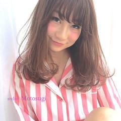 ワンカールパーマ モテ髪 ナチュラル セミロング ヘアスタイルや髪型の写真・画像