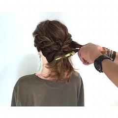 涼しげ アウトドア 簡単ヘアアレンジ エレガント ヘアスタイルや髪型の写真・画像