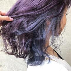 ラベンダーアッシュ ラベンダー ミディアム 外国人風カラー ヘアスタイルや髪型の写真・画像