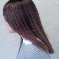 グラデーションカラー ダブルカラー バレイヤージュ セミロング ヘアスタイルや髪型の写真・画像