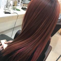ストレート インナーカラー ストリート セミロング ヘアスタイルや髪型の写真・画像