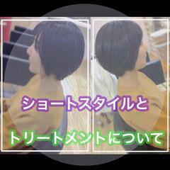 ショートボブ 髪質改善トリートメント ショート ショートヘア ヘアスタイルや髪型の写真・画像