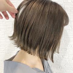 ベージュ グレージュ ボブ ミルクティーベージュ ヘアスタイルや髪型の写真・画像