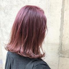 ストリート グラデーションカラー ミディアム バレイヤージュ ヘアスタイルや髪型の写真・画像