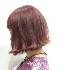 ピンク ガーリー ダブルカラー かわいい ヘアスタイルや髪型の写真・画像