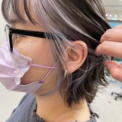 切りっぱなしボブ 大人かわいい ショート ショートヘア ヘアスタイルや髪型の写真・画像