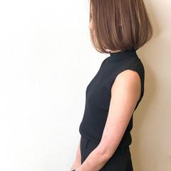 エレガント 極細ハイライト ハイライト ボブ ヘアスタイルや髪型の写真・画像