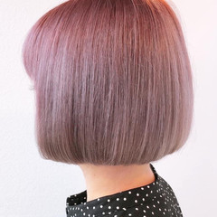 フェミニン ボブ 髪質改善 髪質改善トリートメント ヘアスタイルや髪型の写真・画像