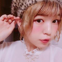 ヘアアレンジ ガーリー パーマ デート ヘアスタイルや髪型の写真・画像