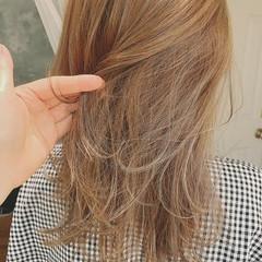 セミロング 大人ハイライト 外国人風カラー ゆるふわ ヘアスタイルや髪型の写真・画像