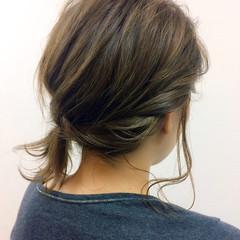 大人かわいい ミディアム ヘアアクセ ヘアアレンジ ヘアスタイルや髪型の写真・画像