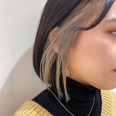 モード 暗髪女子 ボブ 切りっぱなしボブ ヘアスタイルや髪型の写真・画像