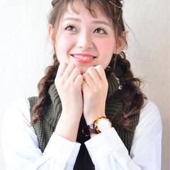 ショート セミロング ヘアアレンジ 簡単ヘアアレンジ ヘアスタイルや髪型の写真・画像