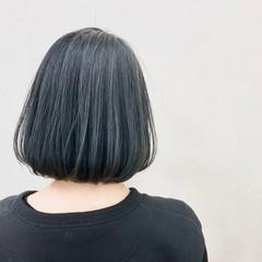 ストリート 黒髪 ブルーブラック ボブ ヘアスタイルや髪型の写真・画像