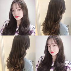 ヘアアレンジ ナチュラル 韓国 ロング ヘアスタイルや髪型の写真・画像