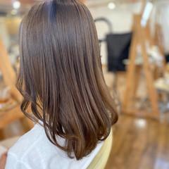 髪質改善 シアーベージュ 透明感カラー ミルクティー ヘアスタイルや髪型の写真・画像