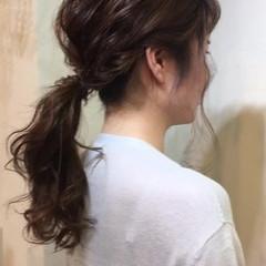 ミディアム 簡単ヘアアレンジ 簡単 編み込み ヘアスタイルや髪型の写真・画像
