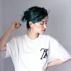 ミディアム 夏 スポーツ 簡単ヘアアレンジ ヘアスタイルや髪型の写真・画像