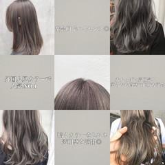 アッシュグレー ミルクティーグレージュ ナチュラル グレーアッシュ ヘアスタイルや髪型の写真・画像