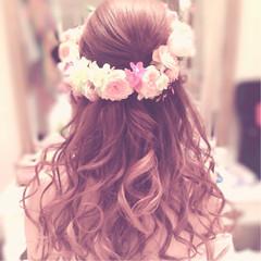 ブライダル 結婚式 ゆるふわ ロング ヘアスタイルや髪型の写真・画像