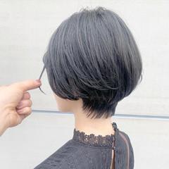 ナチュラル ショート 透明感カラー ショートボブ ヘアスタイルや髪型の写真・画像