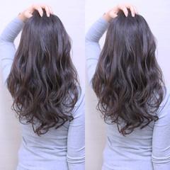 ガーリー アッシュ 暗髪 ブルージュ ヘアスタイルや髪型の写真・画像