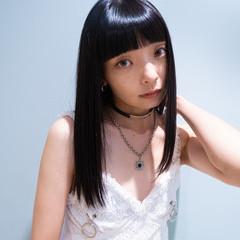 大人かわいい 髪質改善トリートメント 暗髪 セミロング ヘアスタイルや髪型の写真・画像
