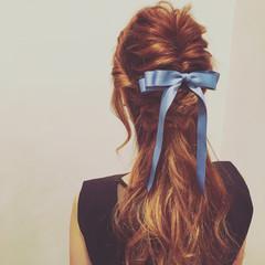 ヘアアレンジ くるりんぱ 大人女子 編み込み ヘアスタイルや髪型の写真・画像