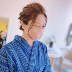 エレガント セミロング ヘアアレンジ 結婚式ヘアアレンジ ヘアスタイルや髪型の写真・画像