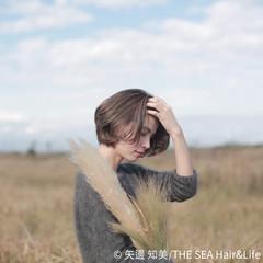 長めバング ナチュラル 外国人風カラー ショートボブ ヘアスタイルや髪型の写真・画像