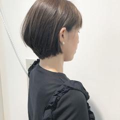 小顔 ショート 色気 フェミニン ヘアスタイルや髪型の写真・画像