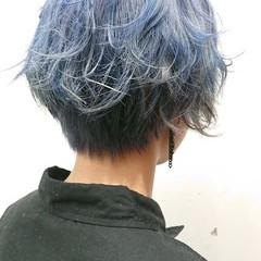 ストリート ブリーチオンカラー ブリーチ必須 ショートヘア ヘアスタイルや髪型の写真・画像