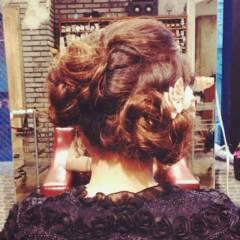 パーティ ヘアアレンジ 大人女子 ガーリー ヘアスタイルや髪型の写真・画像
