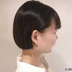 オフィス モード ショートボブ ショート ヘアスタイルや髪型の写真・画像